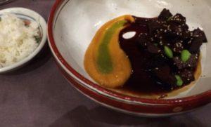 6 Carrillera en salsa teriyaki