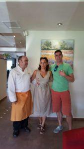 Sonia Selma con Miguel Barrera y con Luis Arrufat