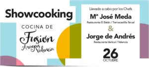 Cocina de fusión Aragón Valencia Showcooking