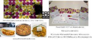 Jornadas Gastronómicas del Arroz y el Vino Valenciano 01102015 collage Sonia Selma
