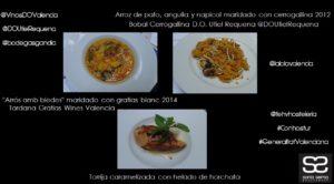 Jornadas Gastronomicas del Arroz y Vino Valenciano by Sonia Selma en La Lola Restaurante Arroz y postre