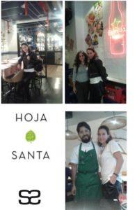 Sonia Selma con Mónica Selma y Paco Mendez Hoja Santa