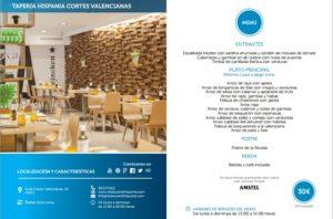 Taperia Hispania Cortes Valencianas