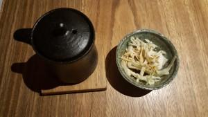 Aperitivo de col con salsa de soja