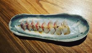Usuzukuri de dorada Sonia Selma en Nozomi Sushi Bar