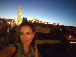 Sonia Selma Castillo de Praga by night dsd Puente Carlos