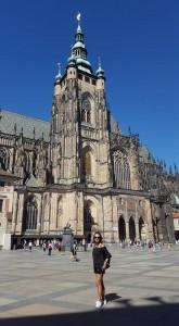 Sonia Selma en Catedral San Vito Castillo de Praga