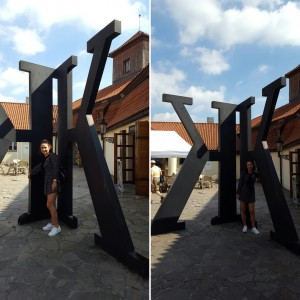 Sonia Selma en Museo Kafka Praga Ago16 2
