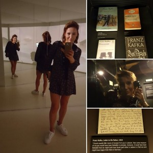 Sonia Selma en Museo Kafka Praga Ago16